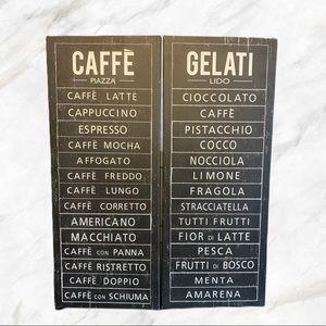 "Ikea | ""Caffe"" & ""Gelati"" Artwork Decor"